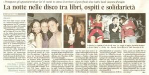 Corriere Adriatico 26 dic 09 letteratura e discoteca col romanzo Apologia del piano B