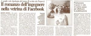 Corriere Adriatico primavera 2009, il caso facebook Apologia del piano B