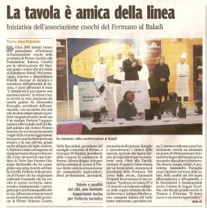 Corriere Adriatico 27 feb 2010 romanzo Apologia del piano B al Baladì