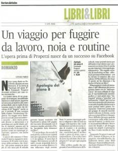 Corriere Adriatico pagina regionale 12 giugno 2010