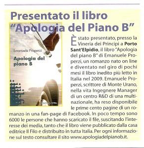 Raccontare l'Elpidiense e Apologia del piano B aprile 2010