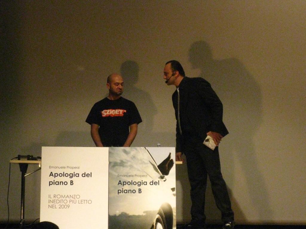 Properzi e Frescobaldi nello spettacolo teatrale Apologia del piano B di Properzi