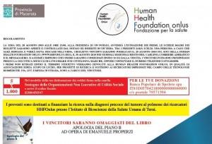 Beneficenza Human Health foundation retro biglietto